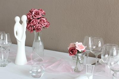 Happily Ever After Hochzeit Verleih Berlin Tischläufer Organza rosa