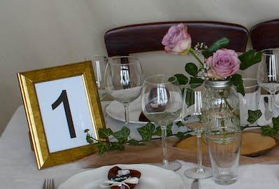 Happily Ever After Hochzeit Verleih Berlin Tischnummer 1