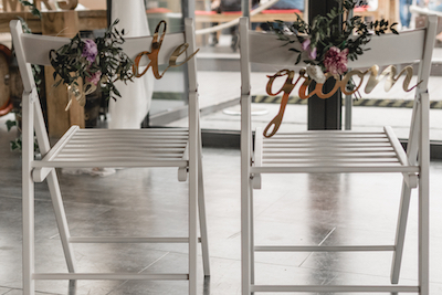 Stuhlanh/änger Bride /& Groom Stuhldeko Hochzeit